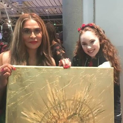 PRODIGY ARTIST AUTUMN DE FOREST TO PRESENT ARTWORK TO TINA KNOWLES LAWSON AND BEYONCE AT LA WEARABLE ART GALA